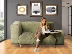 """多功能家具""""Frida""""将沙发和写字台合二为一"""